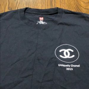 Uniquely Chanel shirt produced by Hanes
